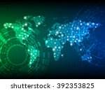 abstract digital technology... | Shutterstock .eps vector #392353825