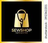 sewing shop logo. handicraft... | Shutterstock .eps vector #392362201