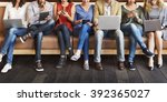 diversity people connection... | Shutterstock . vector #392365027