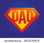 vector illustration of a father ... | Shutterstock .eps vector #392370925