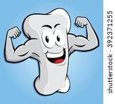 happy strong bone character... | Shutterstock .eps vector #392371255