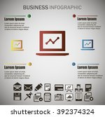 business info graphic   Shutterstock .eps vector #392374324
