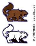 wolverine sport mascot | Shutterstock .eps vector #392381719