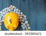 saving for retirement  saving... | Shutterstock . vector #392383621