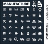 manufacture icons  | Shutterstock .eps vector #392383879
