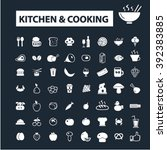 kitchen cooking icons  | Shutterstock .eps vector #392383885