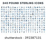 240 british business icons.... | Shutterstock . vector #392387131