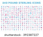 240 british business icons.... | Shutterstock . vector #392387227