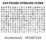 240 british business icons.... | Shutterstock . vector #392387245