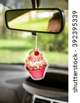 cupcake shaped car freshener... | Shutterstock . vector #392395339
