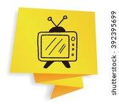doodle tv | Shutterstock .eps vector #392395699
