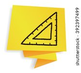 doodle ruler | Shutterstock .eps vector #392397499