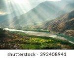 a famous bend of yangtze river... | Shutterstock . vector #392408941