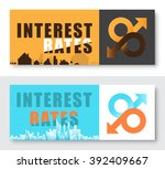 interest rate of house and... | Shutterstock .eps vector #392409667