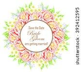 vintage delicate invitation... | Shutterstock .eps vector #392412595
