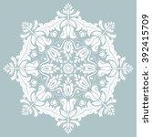 elegant vector white round... | Shutterstock .eps vector #392415709