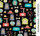 vector seamless pattern with... | Shutterstock .eps vector #392431021