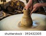 closeup view of hands of a... | Shutterstock . vector #392432305