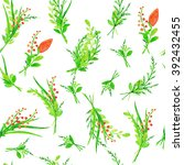 seamless pattern with hand... | Shutterstock . vector #392432455