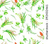 seamless pattern with hand... | Shutterstock . vector #392432461