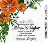 wedding invitation with... | Shutterstock .eps vector #392435311
