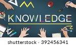 knowledge wisdom intelligence... | Shutterstock . vector #392456341