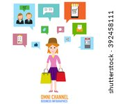 omni channel concept for... | Shutterstock .eps vector #392458111