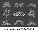 vintage hand drawn circle and... | Shutterstock .eps vector #392460139