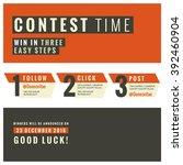 social media contest vector... | Shutterstock .eps vector #392460904