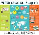 big infographics in flat style. ...