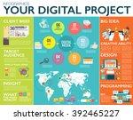 big infographics in flat style. ... | Shutterstock .eps vector #392465227
