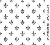 seamless pattern with fleur de...   Shutterstock . vector #392482195