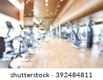 blur gym background fitness... | Shutterstock . vector #392484811