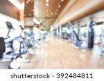 gym blur background fitness... | Shutterstock . vector #392484811