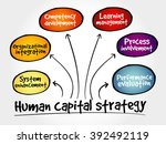 human capital strategy mind map ... | Shutterstock . vector #392492119