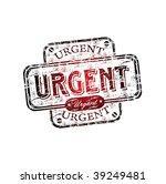 red grunge office rubber stamp...   Shutterstock .eps vector #39249481