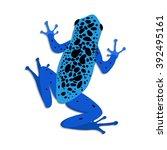 blue poison dart frog  flat... | Shutterstock .eps vector #392495161