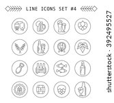 beer related line icon set   Shutterstock .eps vector #392495527