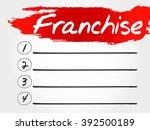 franchise blank list  business... | Shutterstock . vector #392500189