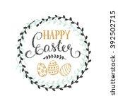 happy easter vector... | Shutterstock .eps vector #392502715