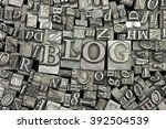 close up of old used metal... | Shutterstock . vector #392504539