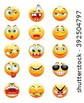 set of yellow emoticons | Shutterstock .eps vector #392504797