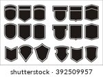 set for designing of military... | Shutterstock .eps vector #392509957