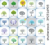 tree vector illustration logo... | Shutterstock .eps vector #392516905