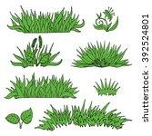 green grass isolated on white... | Shutterstock .eps vector #392524801