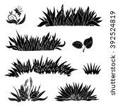 hand drawn grass silhouette... | Shutterstock .eps vector #392524819