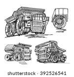 sketch of cars.sketch of truck. | Shutterstock .eps vector #392526541