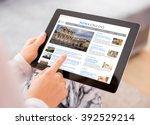 sample news website on digital... | Shutterstock . vector #392529214