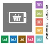 mobile shopping flat icon set...