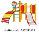 playground for children. vector ... | Shutterstock .eps vector #392530531